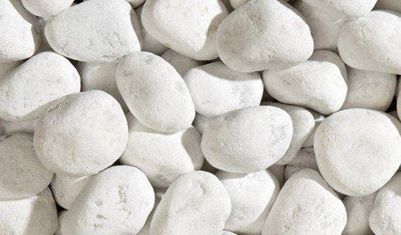 Ciottolato Granulati Bianco Carrara