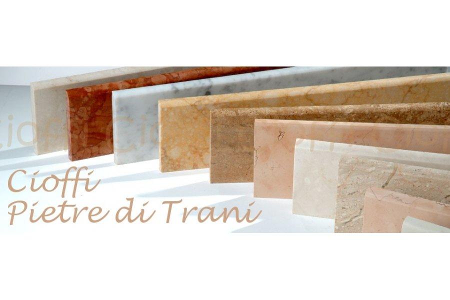 Battiscopa zoccolino in marmo varie colorazioni sez cm for Zoccolini in pietra