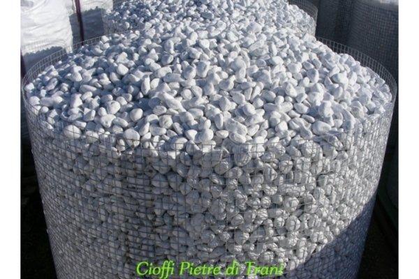 Ciottoli da giardino bianco carrara ceste cioffi for Ciottoli bianchi