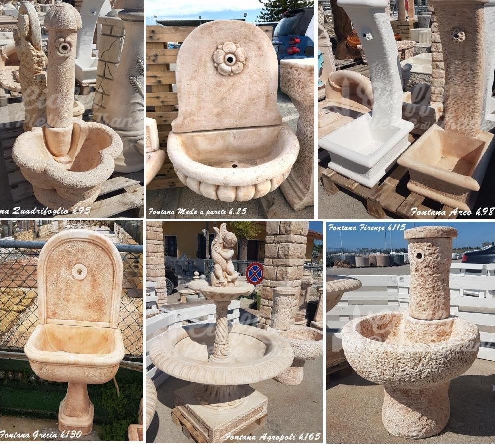 Fontane in Polvere di Marmo e Cemento