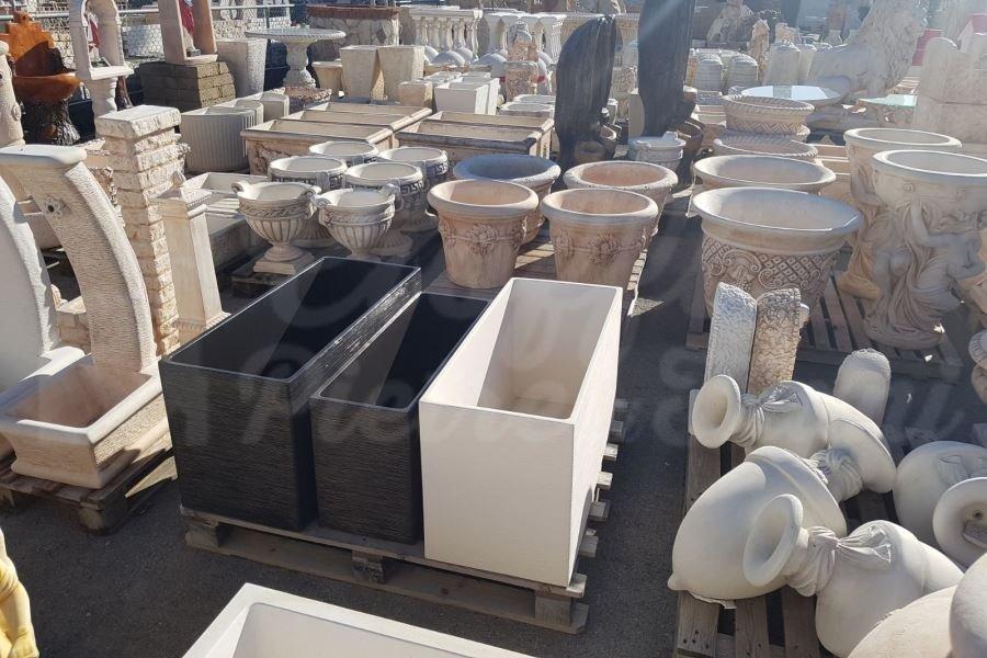 Vasi in polvere di marmo e cemento cioffi pietre di trani for Vasi marmo