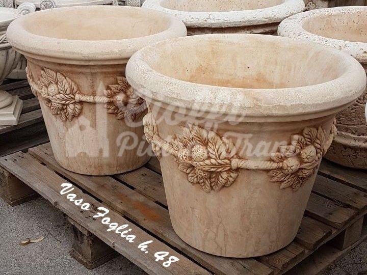 Vasi e mortai in polvere di marmo e cemento cioffi for Arredo giardino in cemento